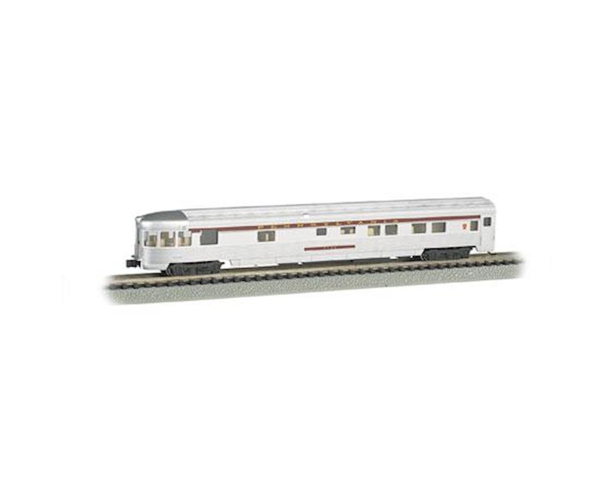 Bachmann N 85' Fluted Streamline Observation w/Lighting,PRR