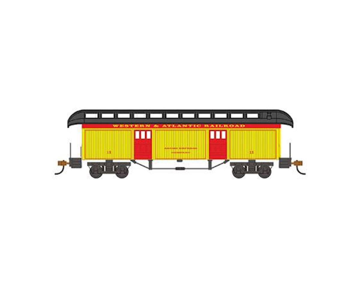 HO Old Time Baggage Car, W&A by Bachmann