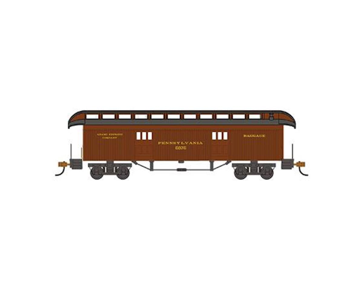 HO Old Time Baggage Car, PRR by Bachmann