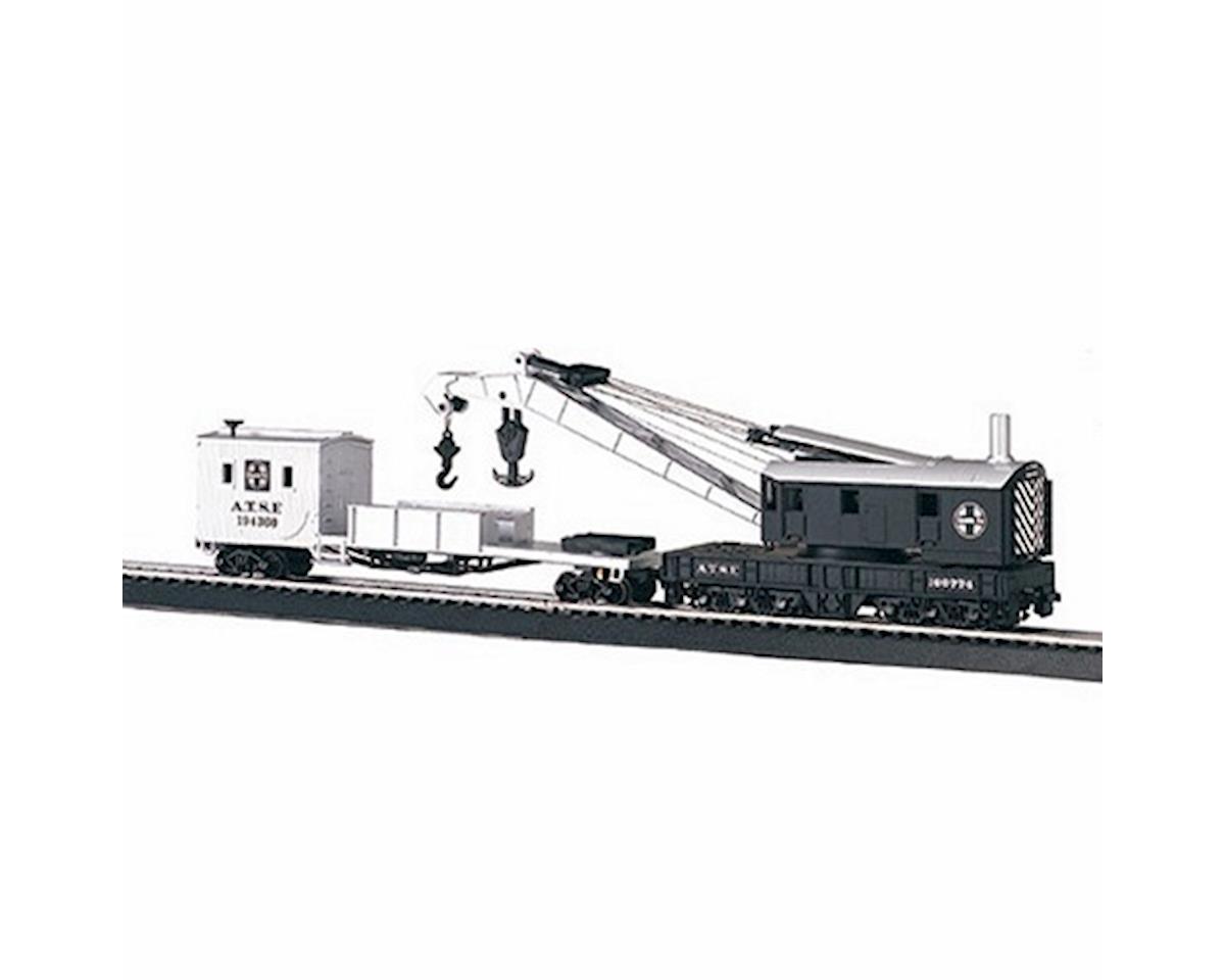 Bachmann HO RTR 250Ton Steam Crane w/Boom Tender, SF