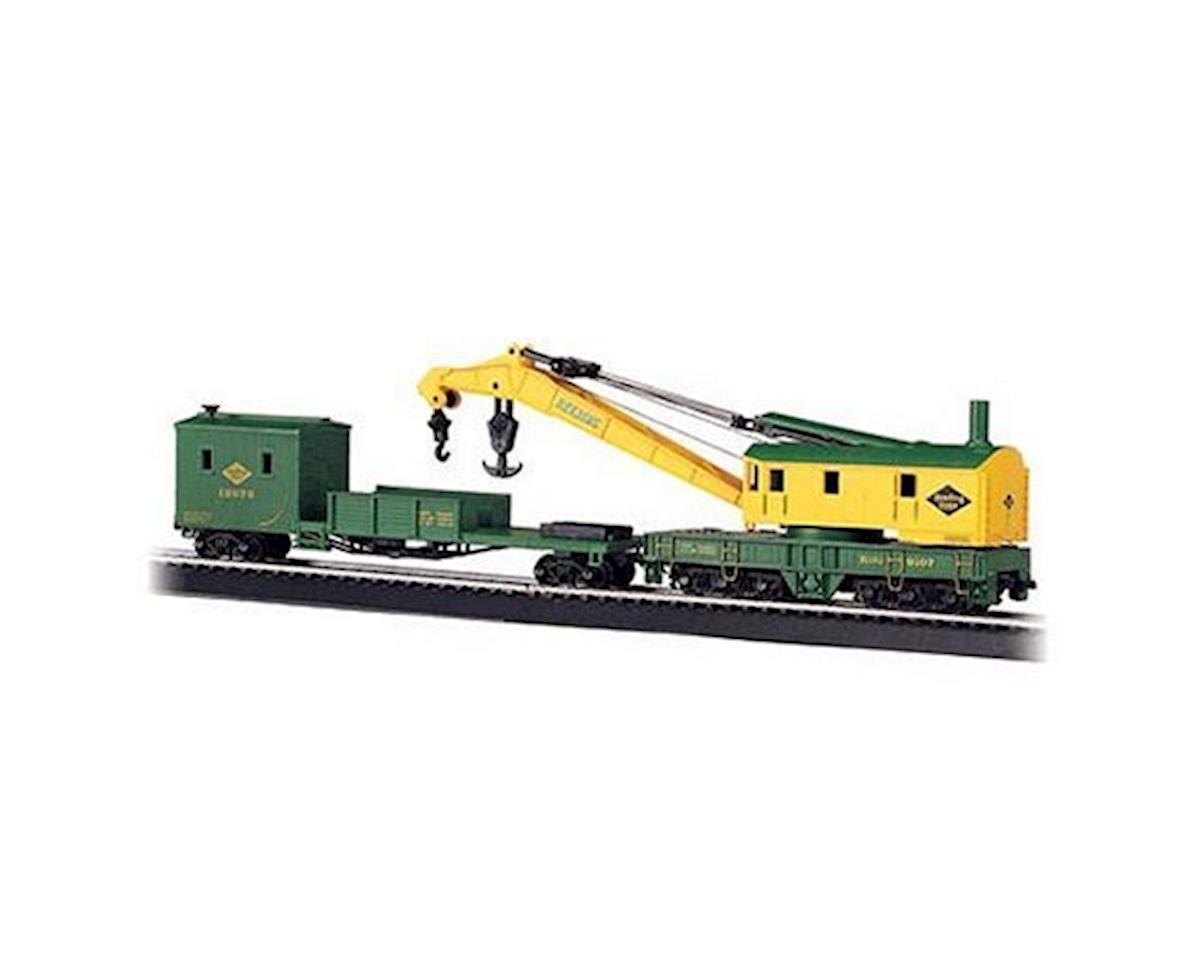 Bachmann HO RTR 250Ton Steam Crane w/Boom Tender, RDG