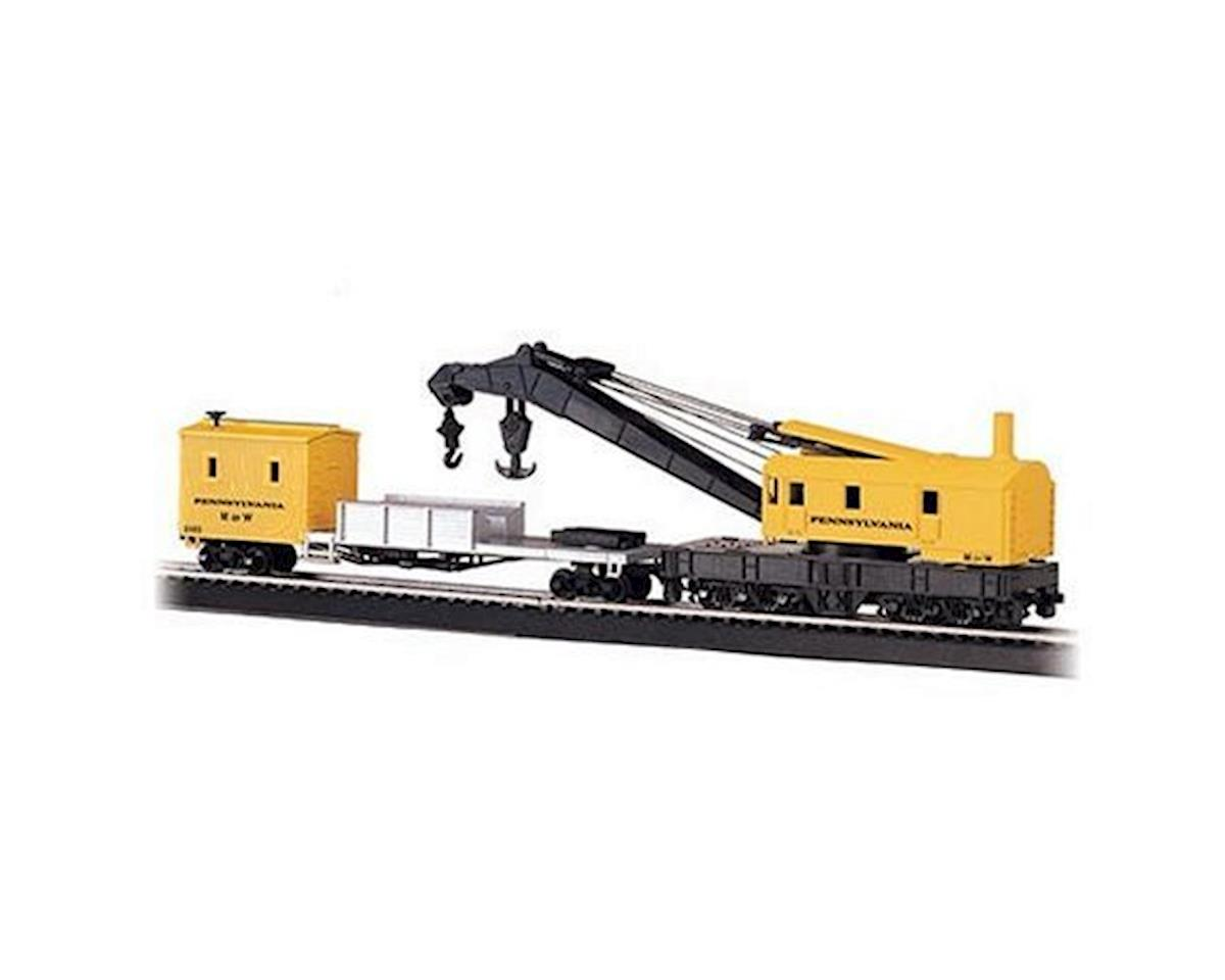 HO RTR 250Ton Steam Crane w/Boom Tender, PRR by Bachmann