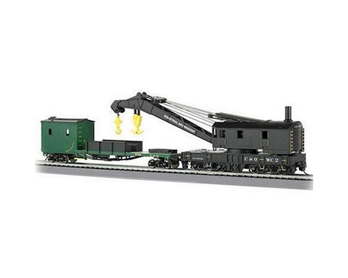 Bachmann HO RTR 250-Ton Steam Crane w/Boom Tender, C&O