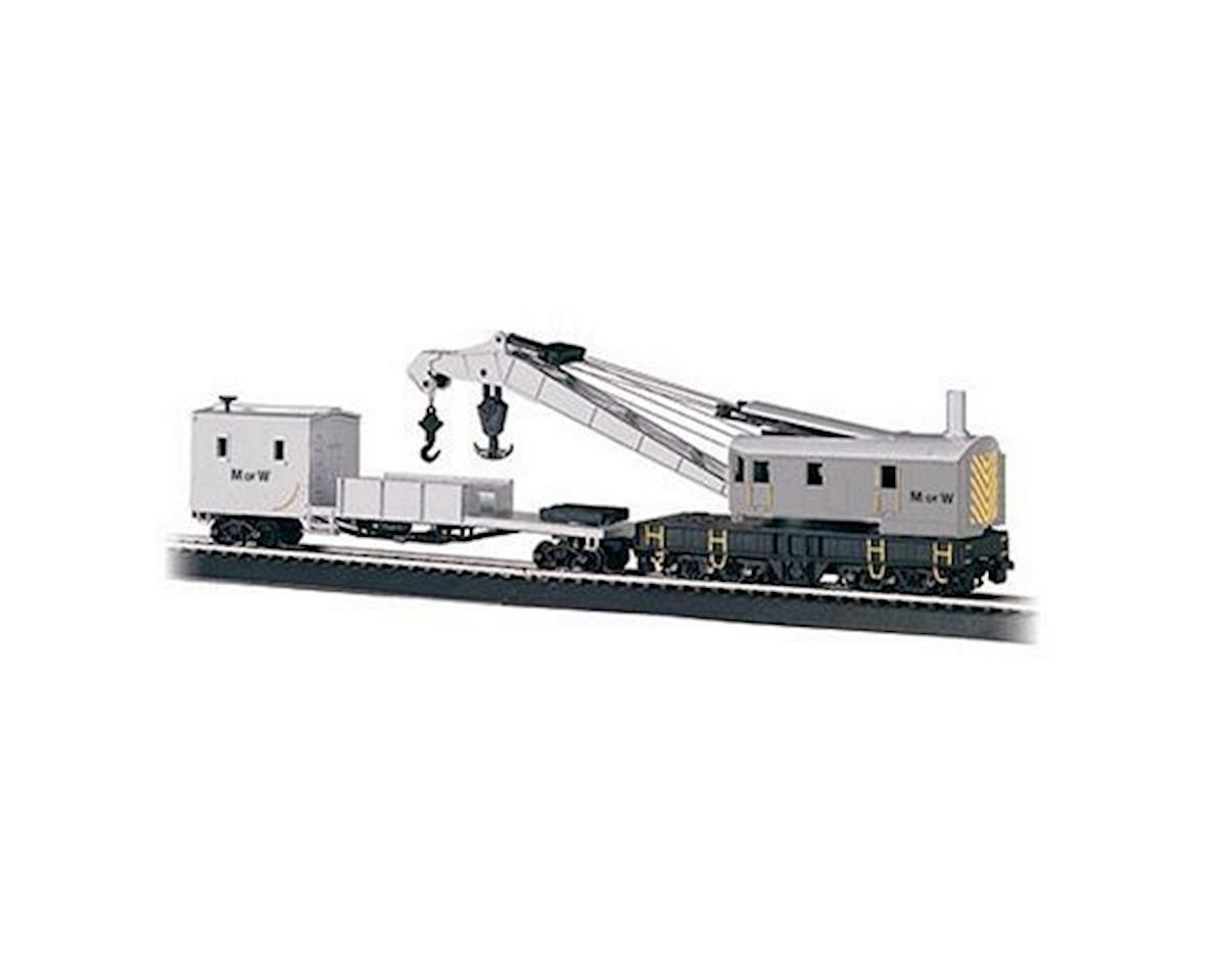 Bachmann HO RTR 250Ton Steam Crane w/Boom Tender, MOW