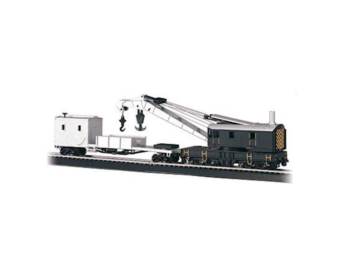 Bachmann HO 250-Ton Crane w/Boom Tender, Black & Silver