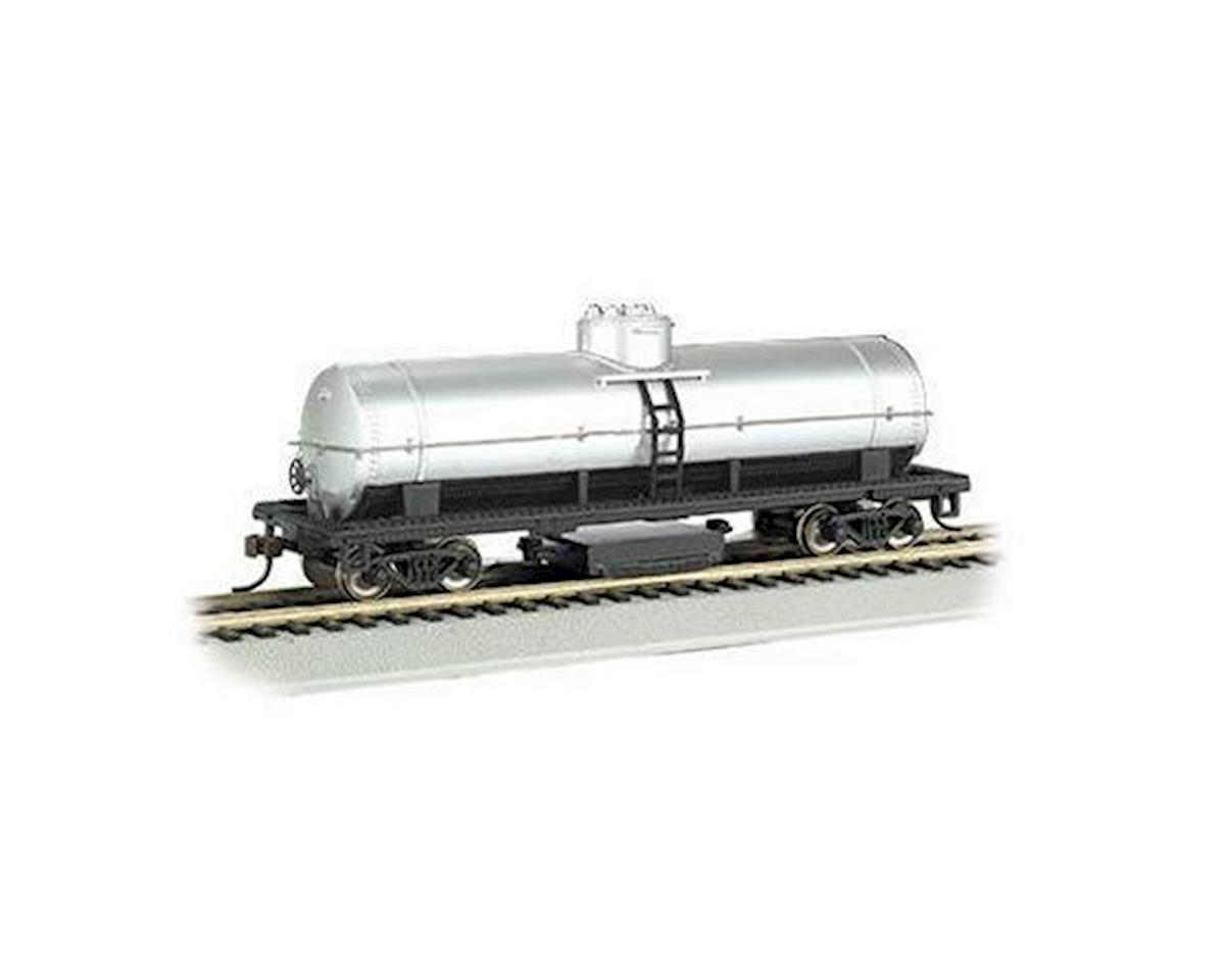 Bachmann HO Track Cleaning Tank Car, Unlettered/Silver