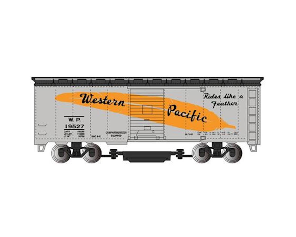 HO Track Cleaning Box, WP/Silver/Feather Car by Bachmann