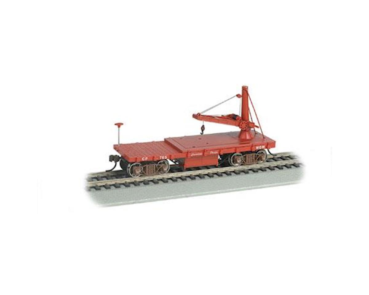 Bachmann HO Old Time Derrick Car, CPR/MOW