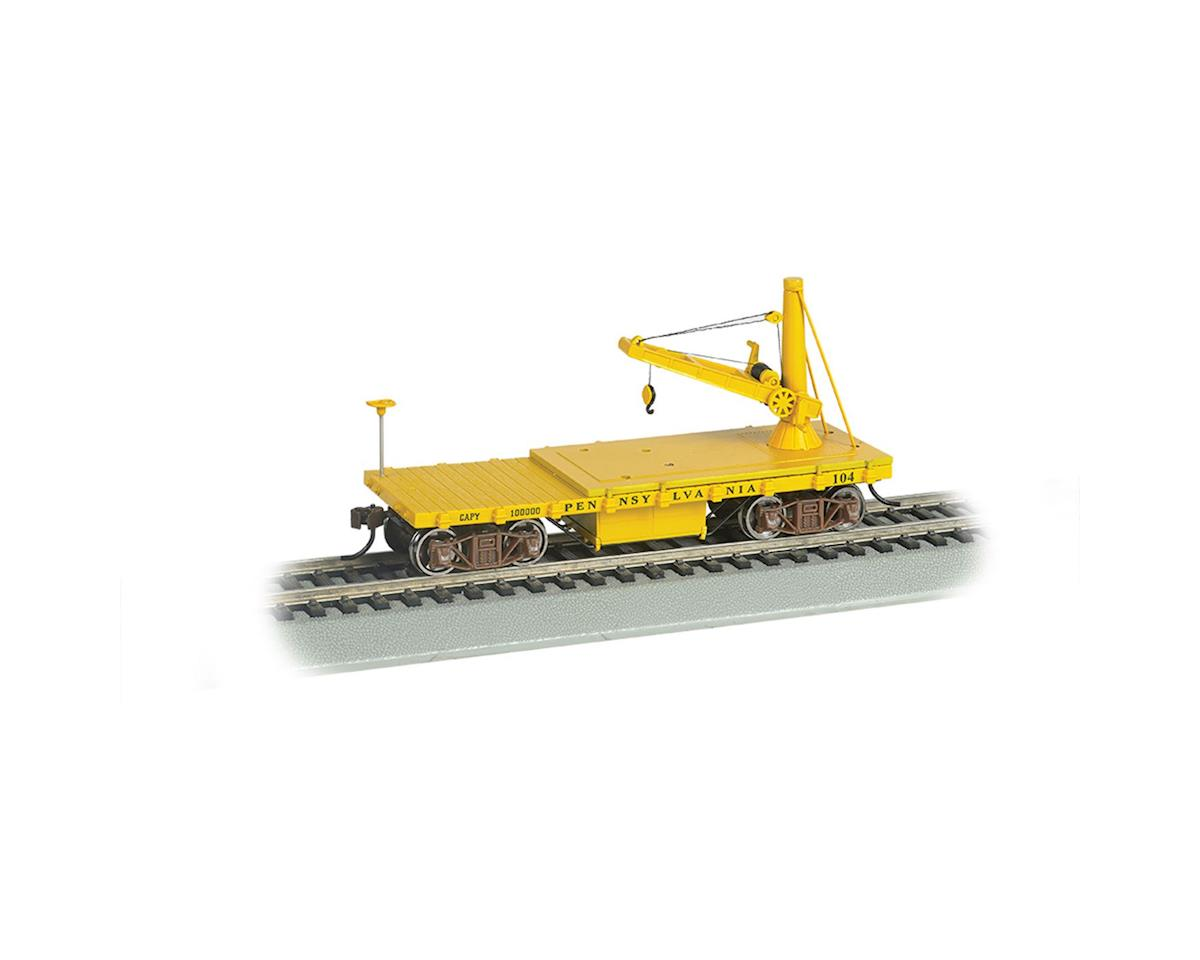 Bachmann HO Old Time Derrick Car, PRR/MOW