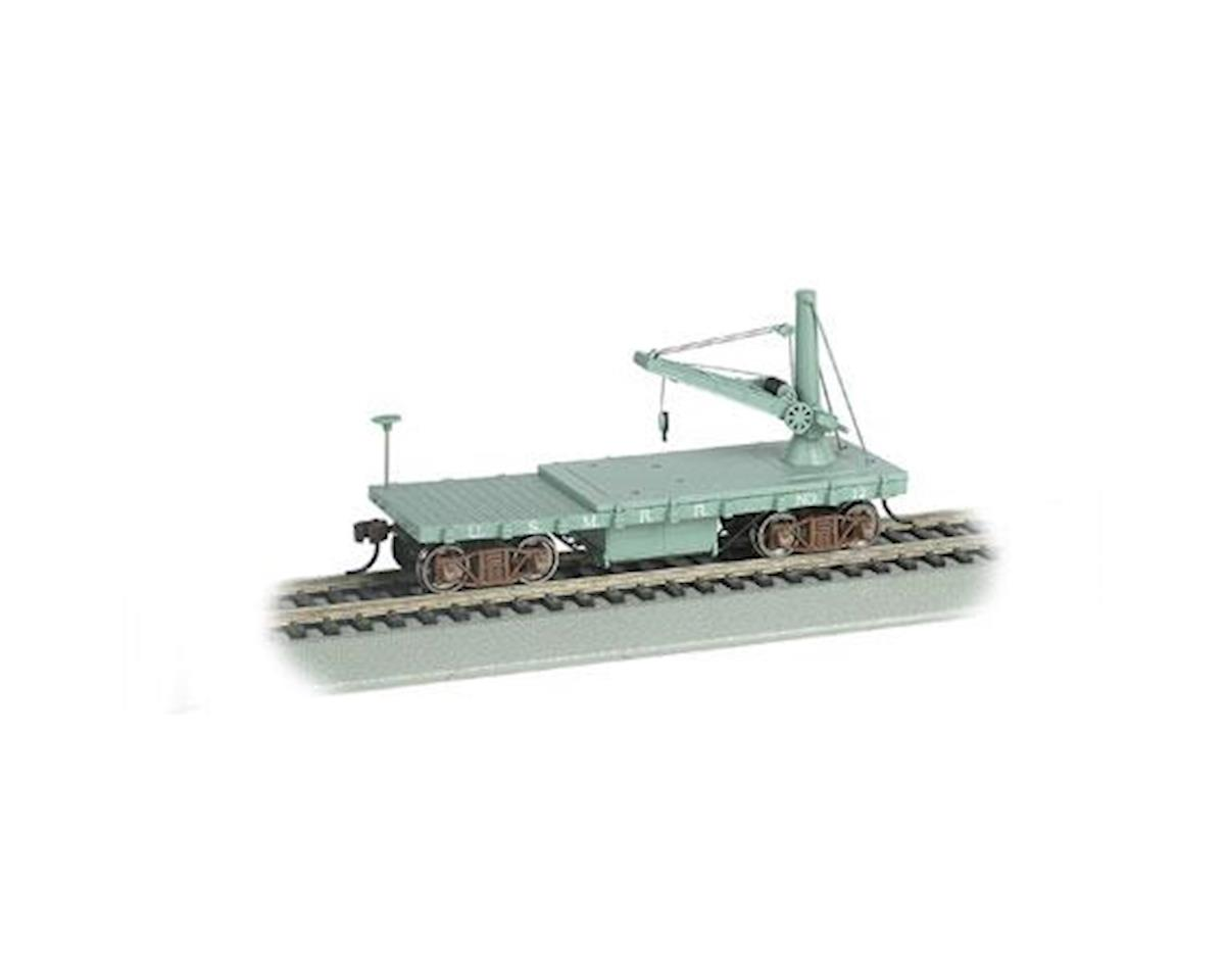 HO Old Time Derrick Car, US Military RR/MOW by Bachmann