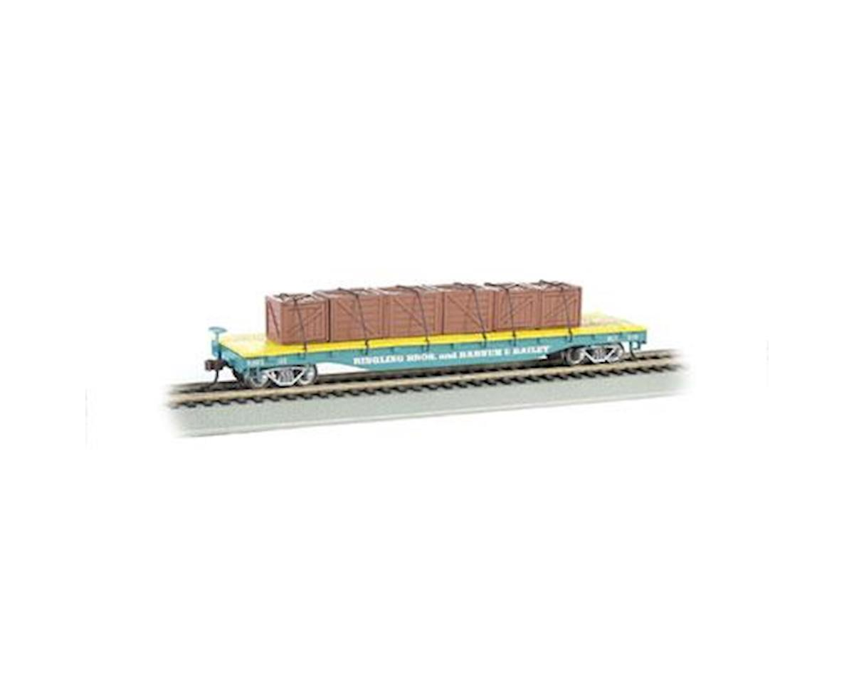 Bachmann HO Flat Car w/Crate Load, Ringling Bros/Blue