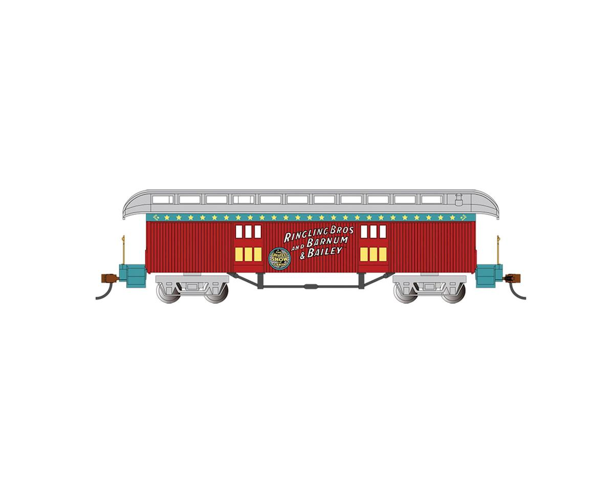 Bachmann HO Old Time Baggage Car, Ringling Bros
