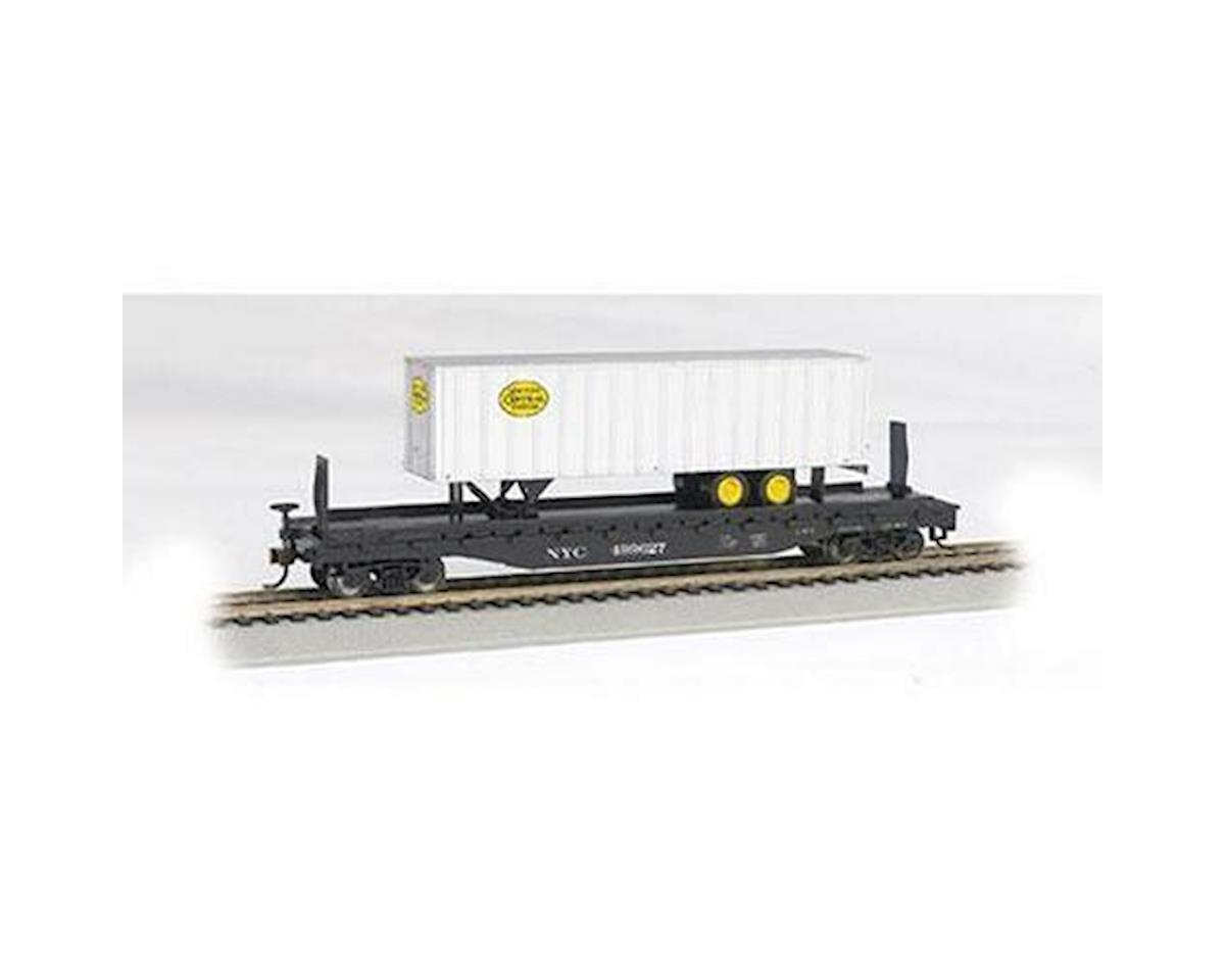 "HO 52' 6"" Flat w/ 35' Trailer, NYC by Bachmann"