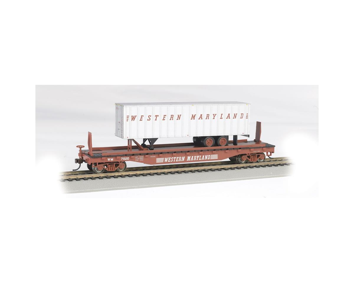 "HO 52' 6"" Flat w/ 35' Trailer, WM by Bachmann"