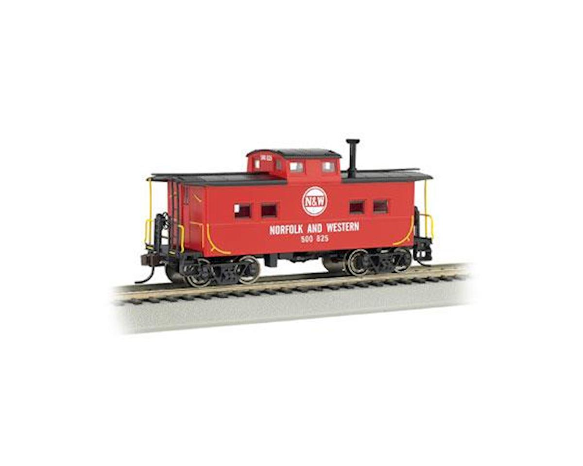 HO NE Steel Caboose, N&W/Red by Bachmann