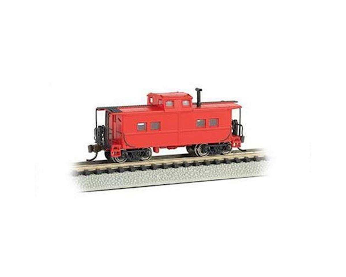 Bachmann N Northeast Steel Caboose, Unlettered/Red