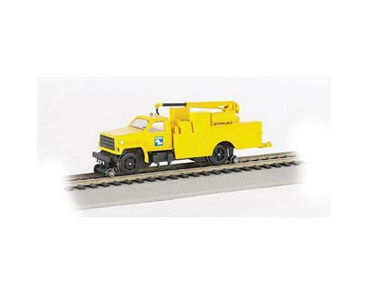 Bachmann HO Hi-Rail Truck w/DCC & Crane, CR/Yellow