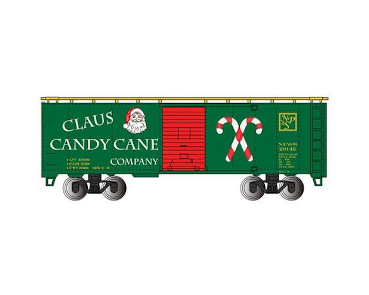 Bachmann HO 40' PS-1 Box, Claus Candy Cane Co