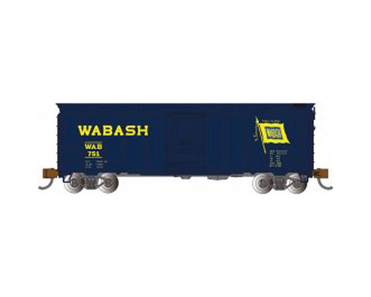 N 40' Steel Box, Wabash/Blue by Bachmann