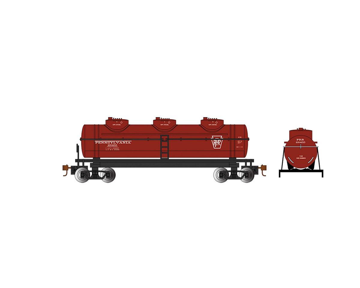 Bachmann HO 40' 3-Dome Tank, PRR #498655