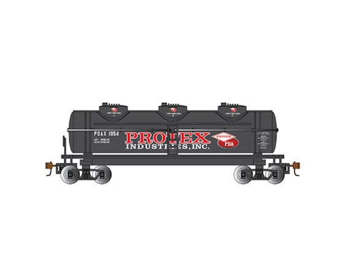 Bachmann HO 40' 3-Dome Tank, Protex Industries