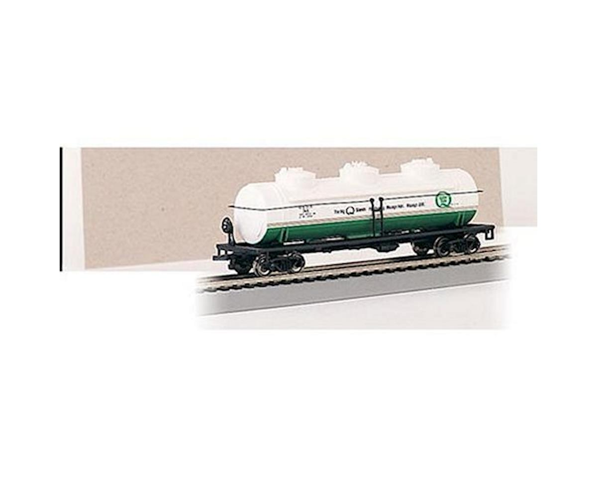 HO RTR SS 40' 3Dome Tank, Quaker State by Bachmann
