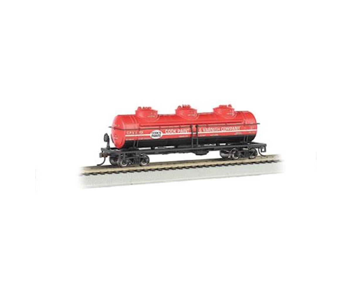 Bachmann HO 40' 3-Dome Tank, Cook Paint & Varnish