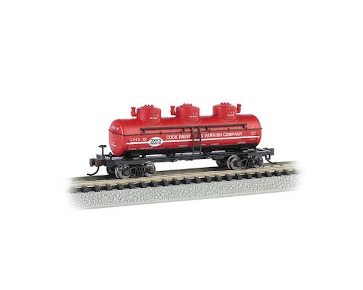 Bachmann N 3-Dome Tank, Cook Paint & Varnish