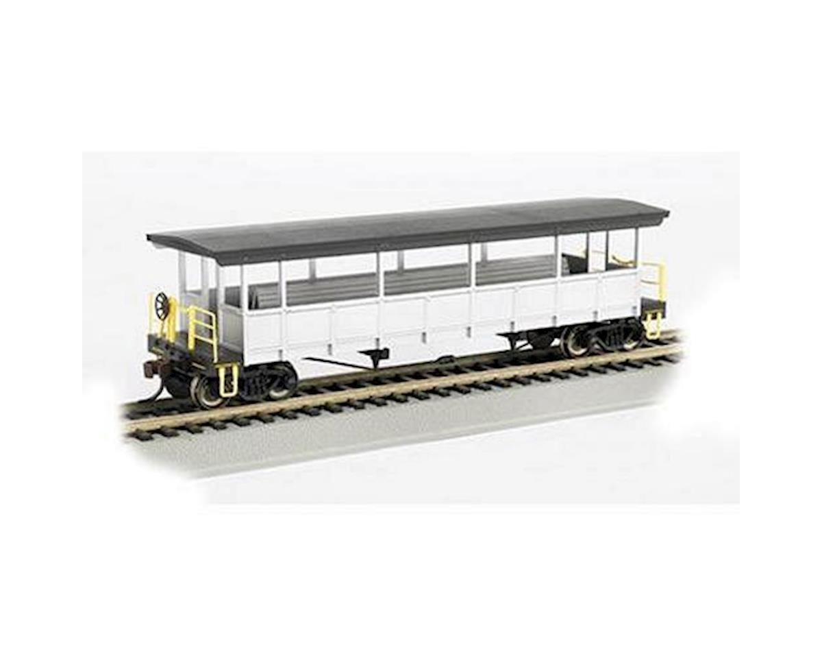 Bachmann Unlettered Open Sided Excursion Car (Silver/Black) (HO Scale)