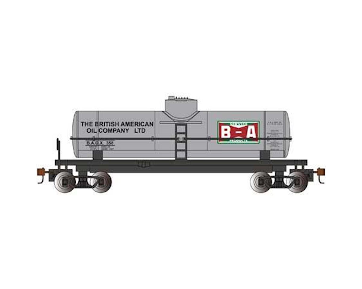 Bachmann HO 40' 1-Dome Tank, British American Oil/Silver
