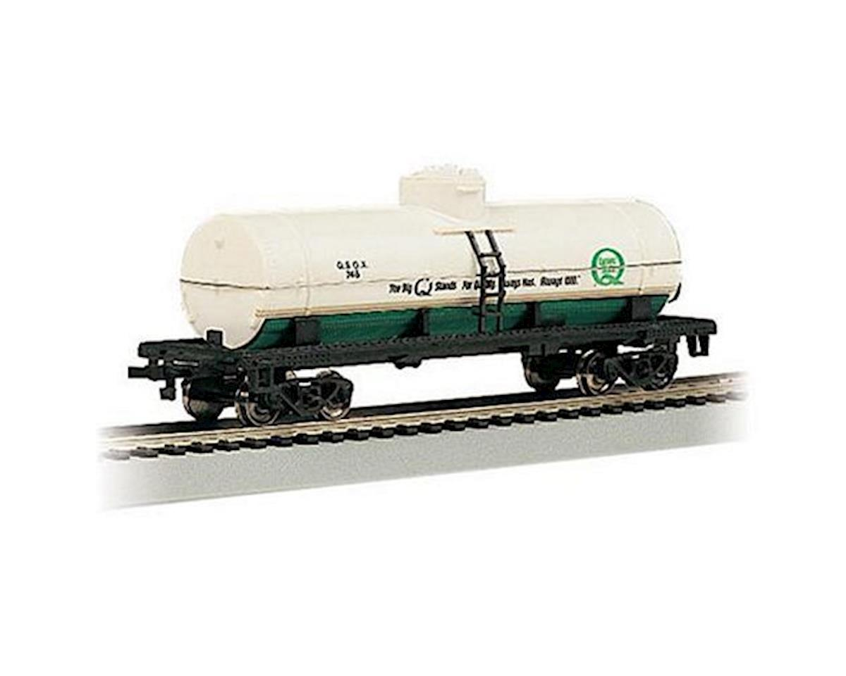 HO RTR SS 40' 1Dome Tank, Quaker State by Bachmann