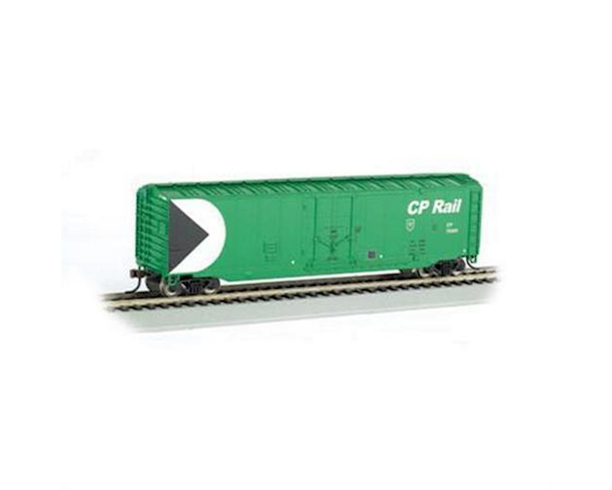 HO RTR SS 50' Plug Door Box, CPR/Green by Bachmann