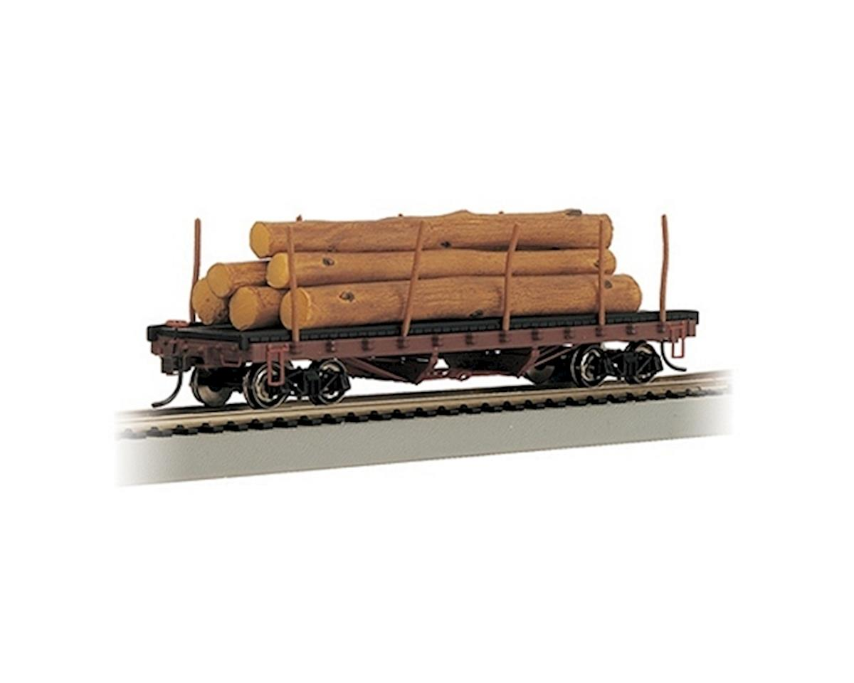 HO RTR SS ACF 40' Log Car w/Logs Pre-1935 by Bachmann