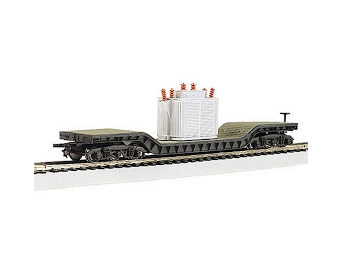 HO RTR SS 52' Depressed Center Flat w/Transformer by Bachmann