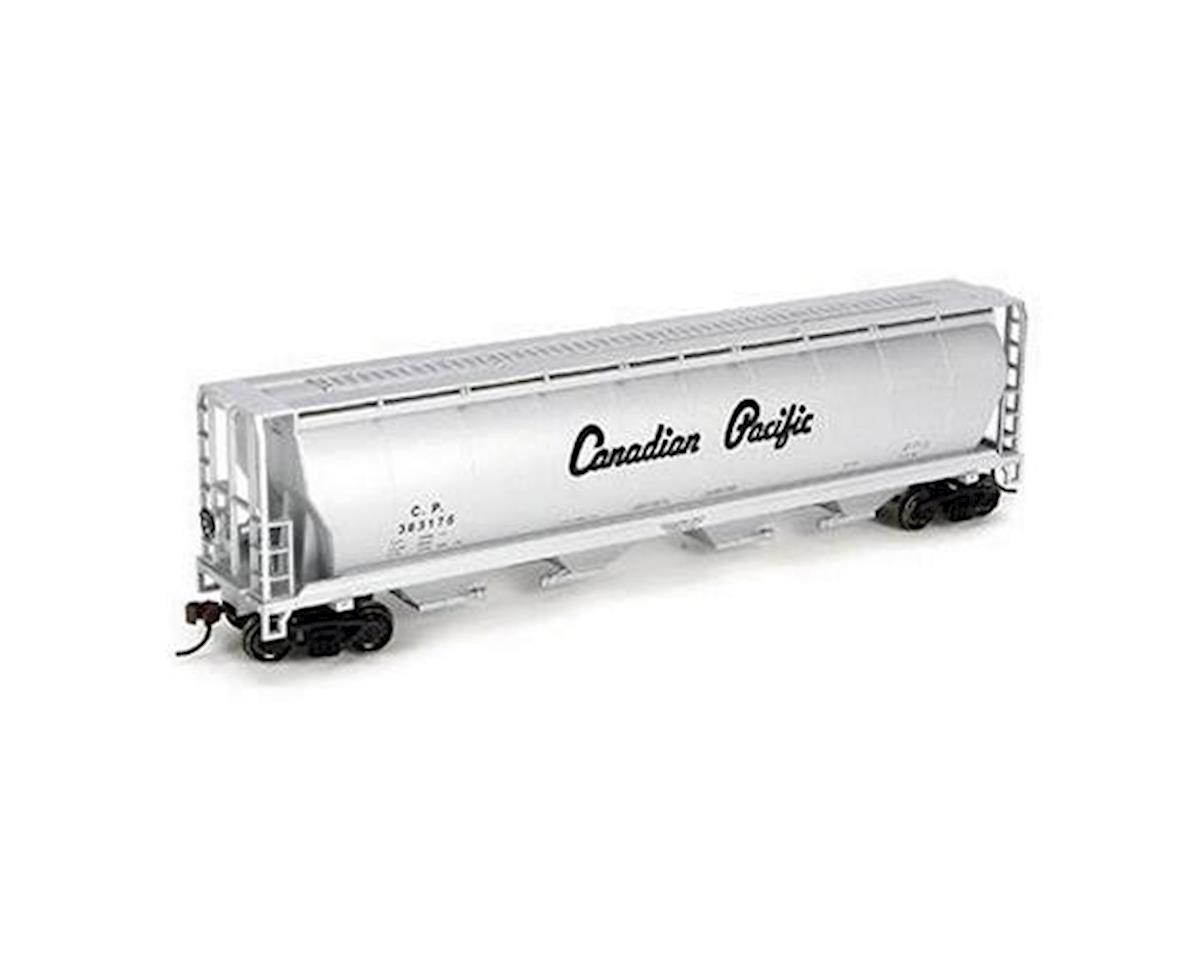 Bachmann Canadian Pacific 4-Bay Cylindrical Grain Hopper (Silver) (HO Scale)
