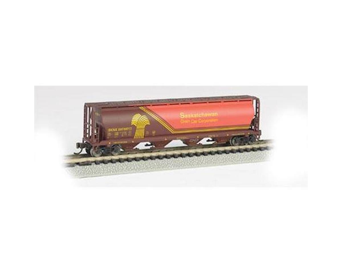 N 4-Bay Cylindrical Hopper, SKNX/Wheat Hearald by Bachmann