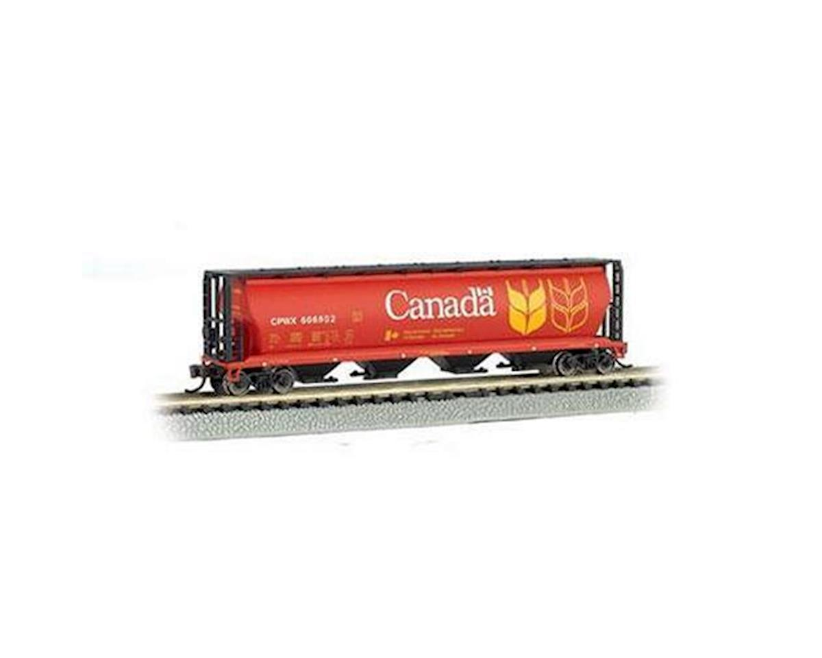 N SS 4-Bay Cylindrical Hopper, Canada Grain by Bachmann