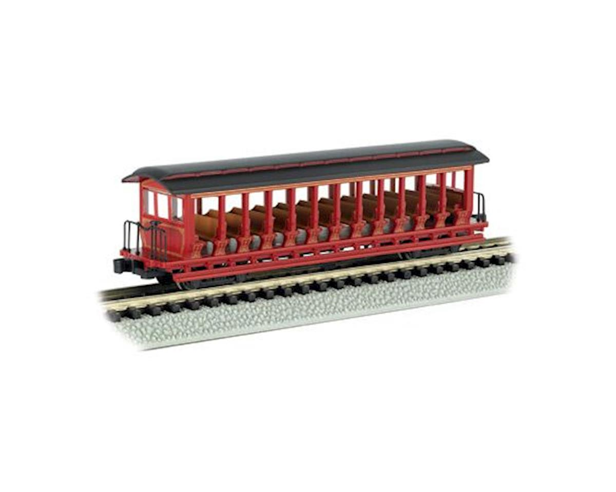 Bachmann N Open Excursion Car, Burgundy & Black