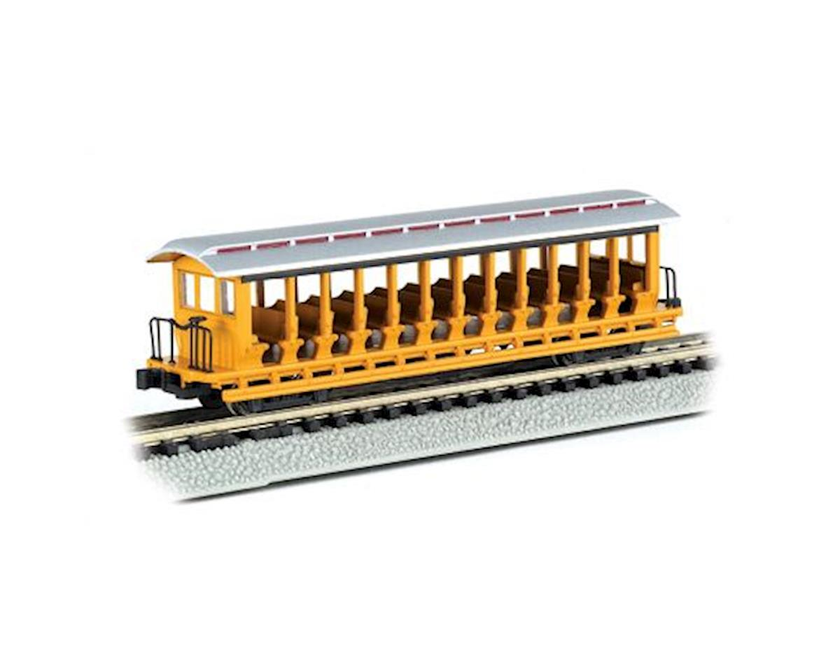 Bachmann N RTR Open Excursion Car, Painted/Yellow & Silver