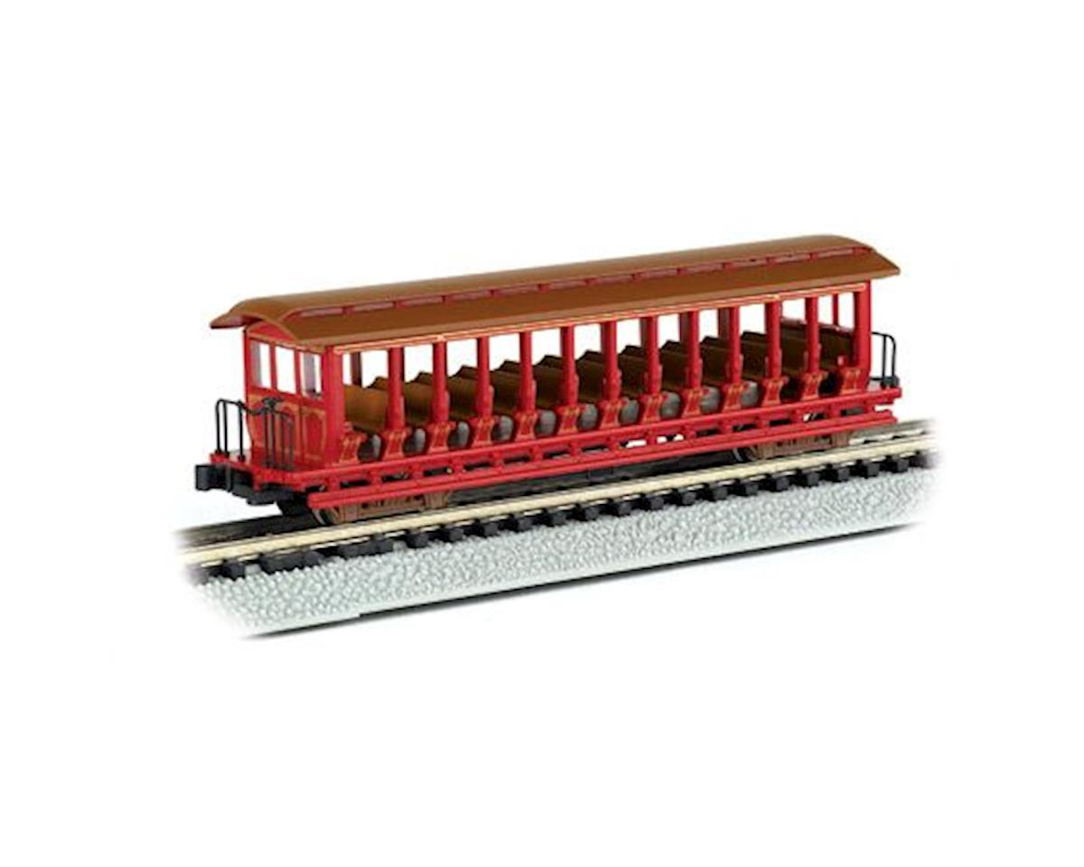 Bachmann N RTR Open Excursion Car, Painted/Red & Silver