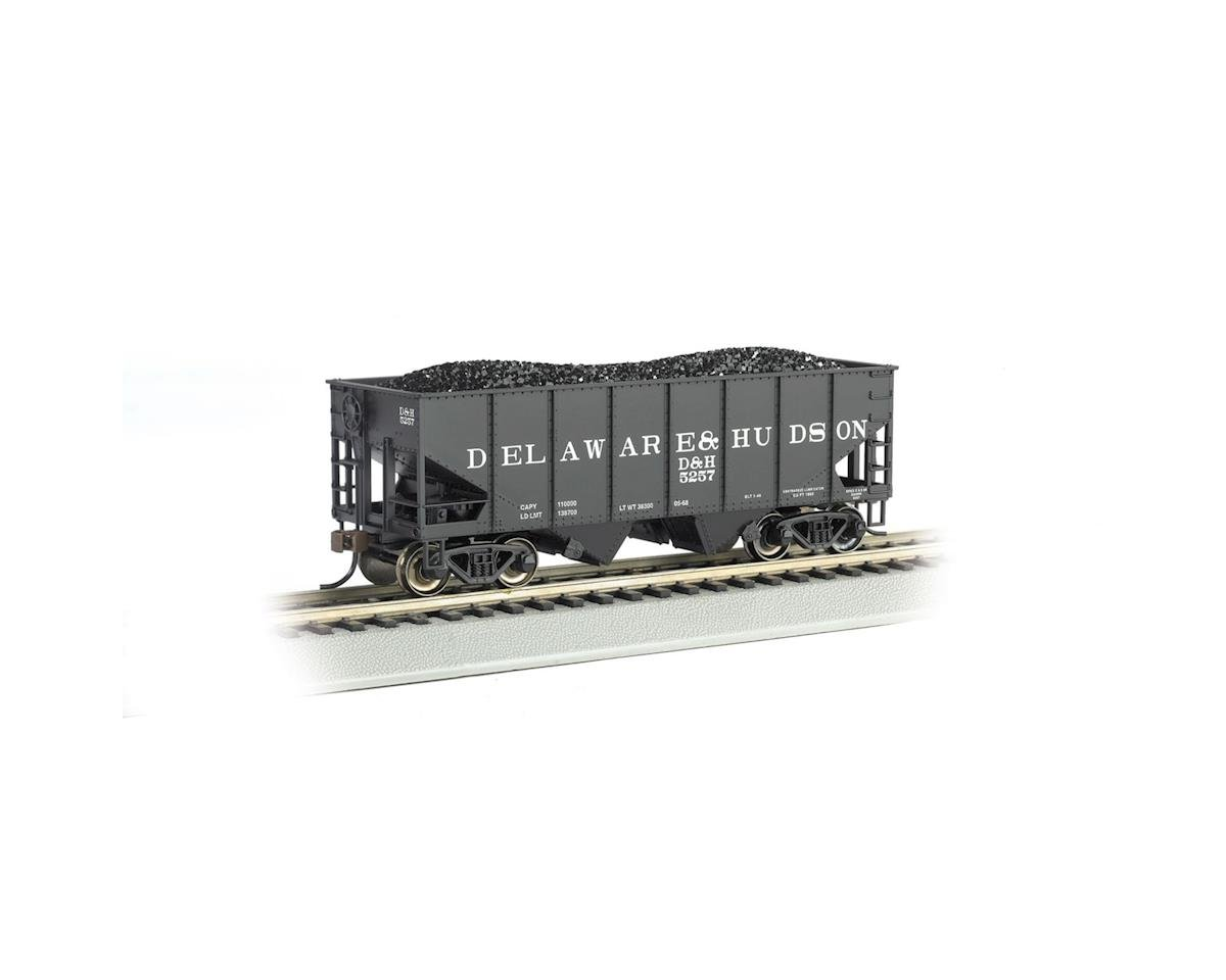 Bachmann HO 55-Ton 2-Bay Hopper w/Coal Load, D&H