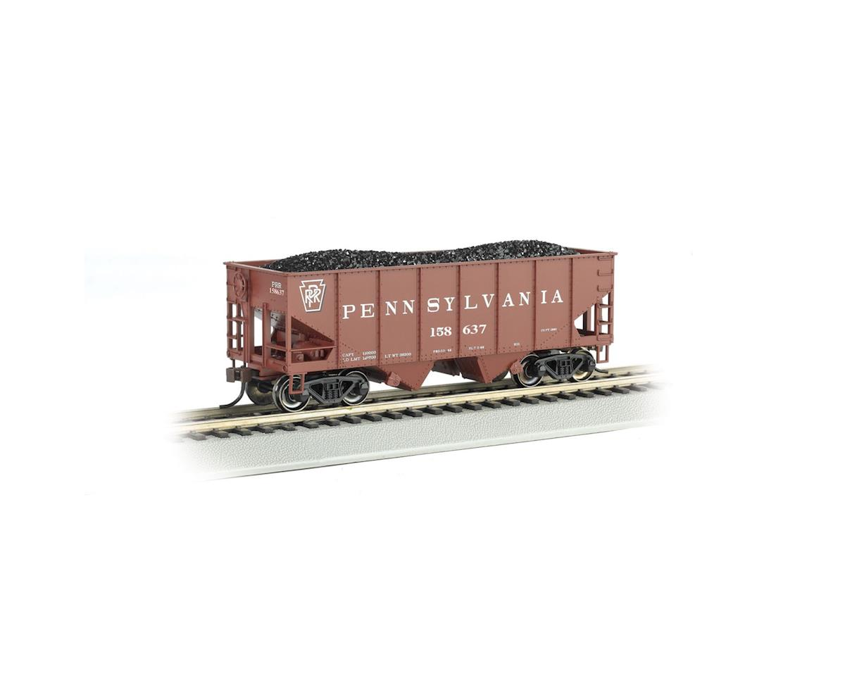 Bachmann HO 55-Ton 2-Bay Hopper w/Coal Load, PRR