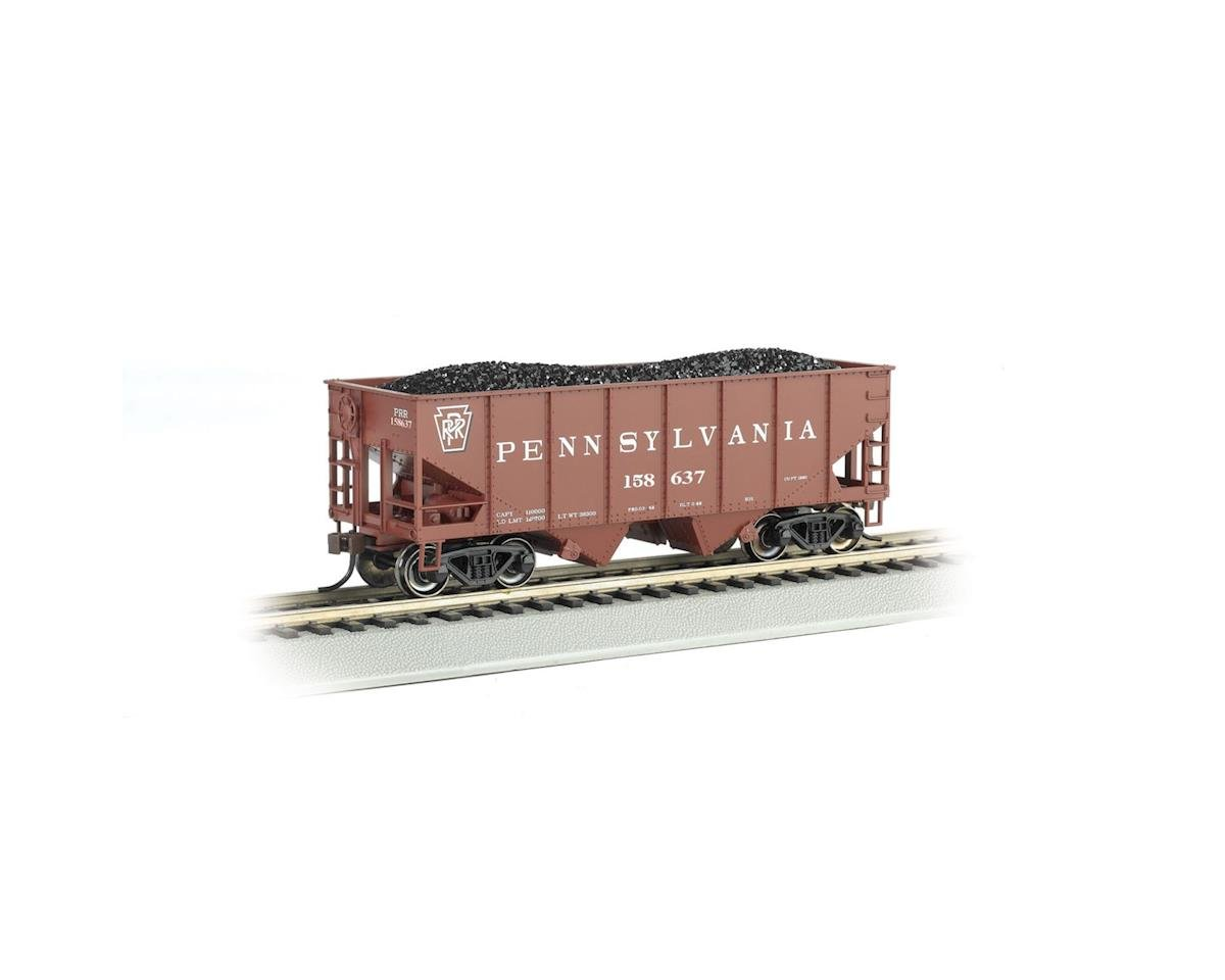 HO 55-Ton 2-Bay Hopper w/Coal Load, PRR by Bachmann