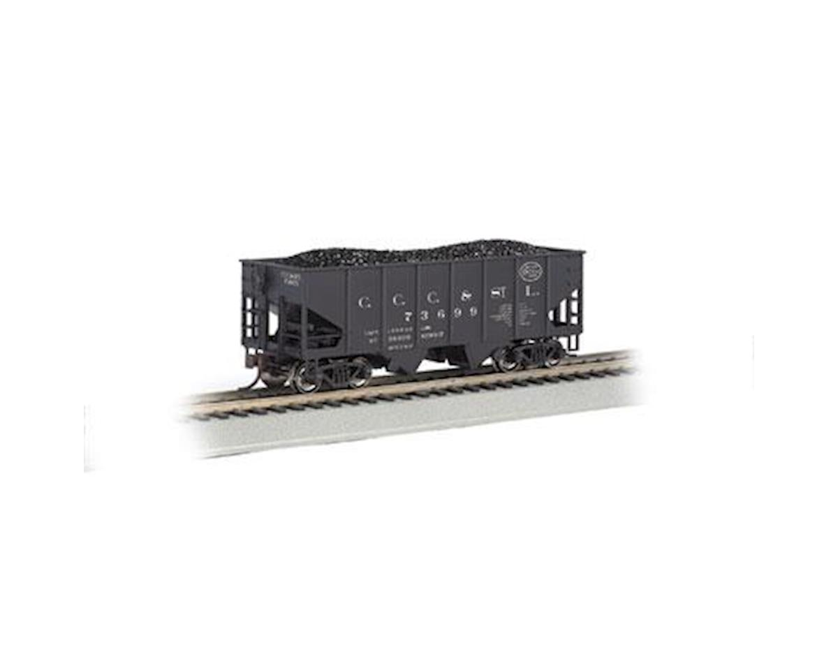 Bachmann HO 55-Ton 2-Bay Hopper w/Coal Load, NYC/Big Four