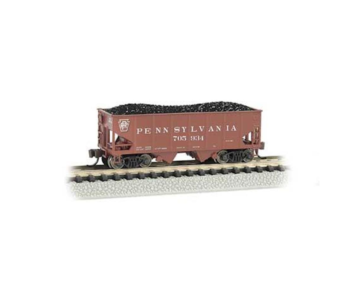 Bachmann N 55-Ton 2-Bay Hopper, PRR/Tuscan Red #705934