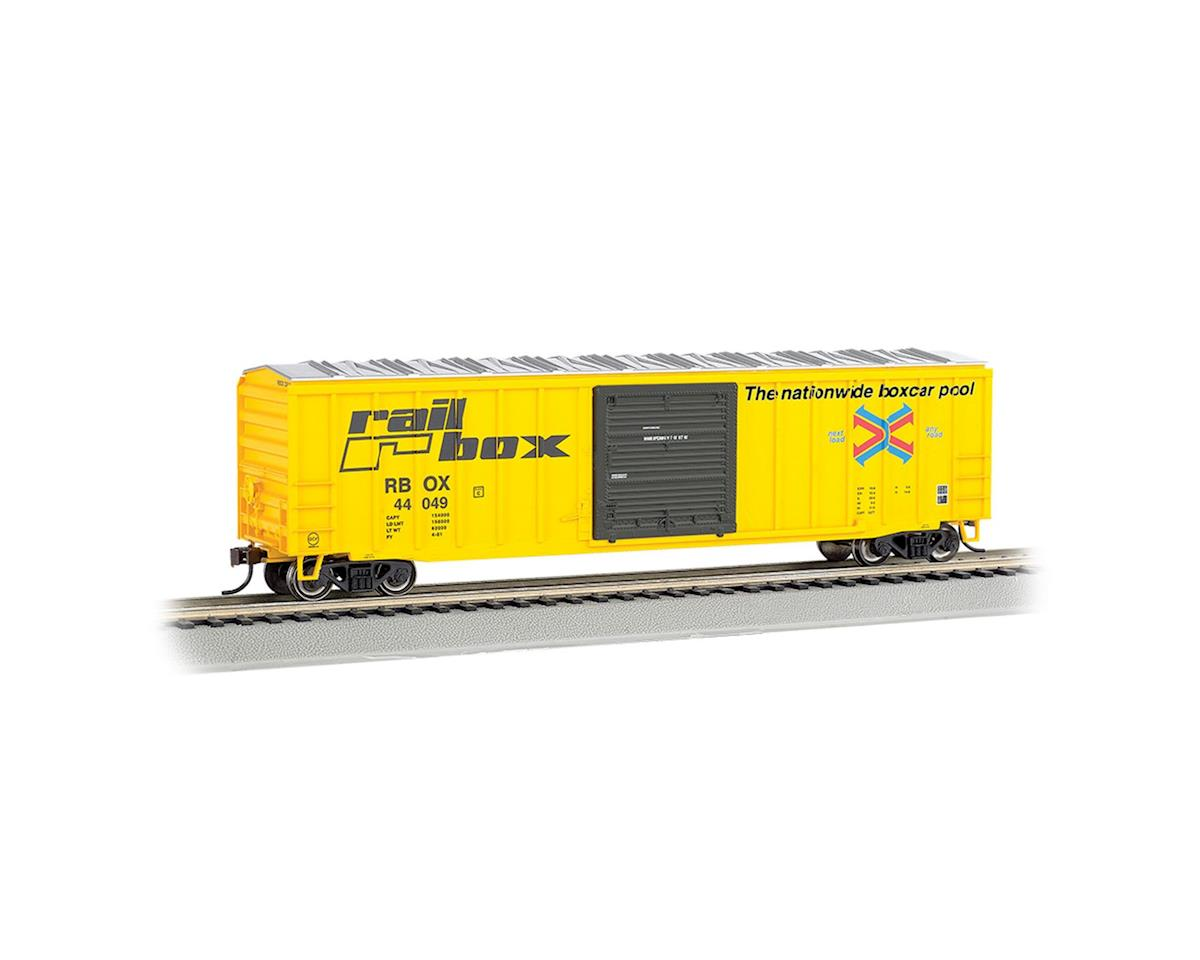 "Bachmann HO ACF 50' 6"" Sliding Door Box, Railbox"
