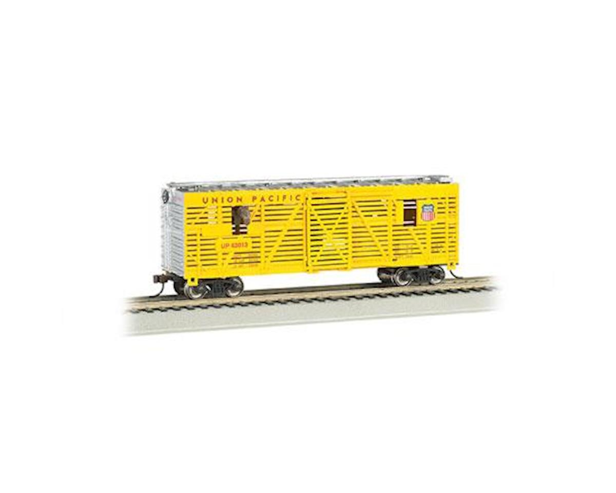 Bachmann HO 40' Animated Stock Car, UP/Horses