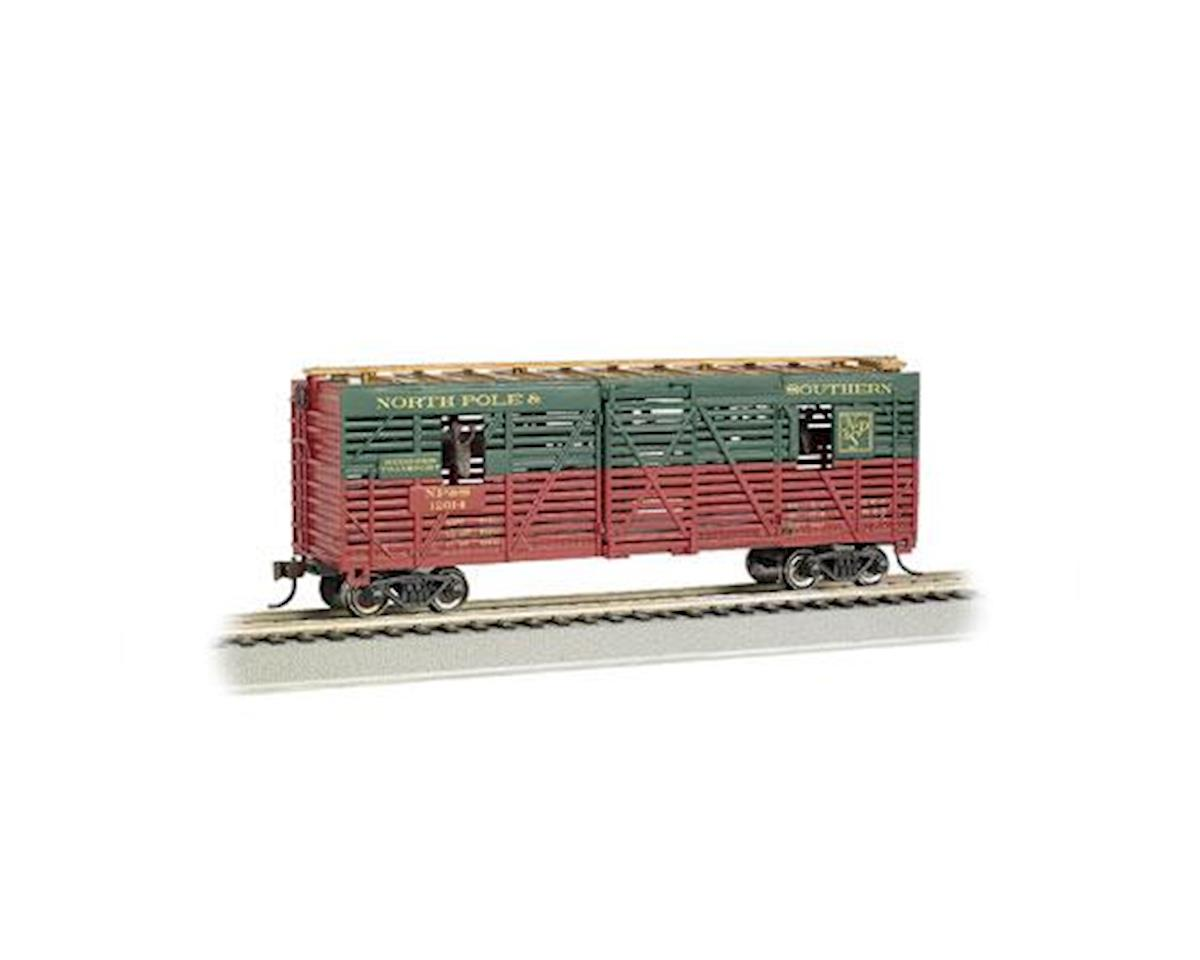 Bachmann HO 40' Animated Stock Car, Christmas/Reindeer