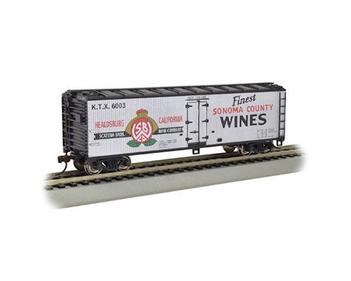 Bachmann HO 40' Wood Reefer, Sonoma County Wines