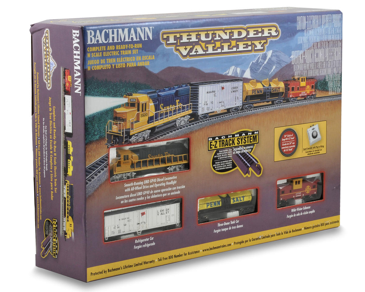 Bachmann N-Scale Thunder Valley Train Set (Santa Fe)